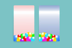 Pink and blue rectangles with the baloons design Royalty Free Stock Photography