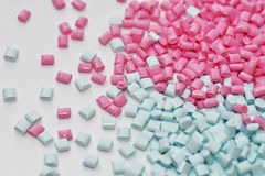 Pink and blue resin Stock Image