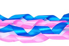 Pink and blue ribbons Royalty Free Stock Images