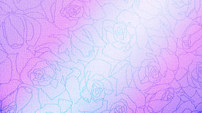 Pink and Blue Rose Floral Pattern Background Texture Vintage Style for Furniture Material Stock Photography