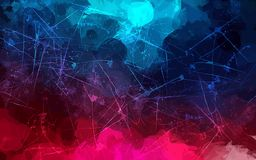 Pink and blue scribble brush strokes background. Vector version Royalty Free Stock Photography