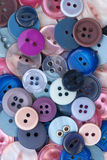 Pink and Blue Sewing Buttons Royalty Free Stock Image
