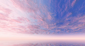 Pink and blue sky Royalty Free Stock Photos