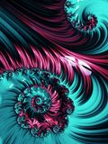 Pink and blue spiral abstract fractal pattern Royalty Free Stock Image