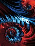 Pink and blue spiral abstract fractal pattern Stock Photography
