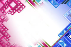 pink and blue square line left side, abstract background Royalty Free Stock Photos