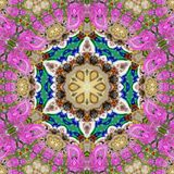 Pink blue star mandala. Pink blue star flower mandala Stock Photo