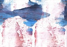 Pink Blue streaked wash drawing illustration Royalty Free Stock Images