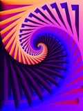 Pink Blue Swirling Colors. An abstract swirling spiral texture ideal as a background with bright colors vector illustration