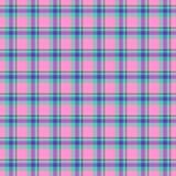 Pink and blue tartan texture seamless pattern stock illustration