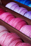 Pink and blue threads Stock Photography
