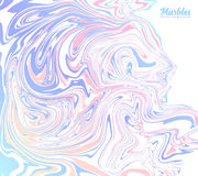 Pink and blue trendy colors marble abstract vector background royalty free illustration