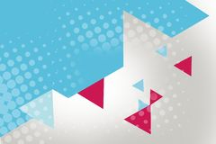 pink and blue triangle and hexagon, abstract background Stock Photography