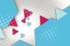 pink and blue triangle and hexagon, abstract background Royalty Free Stock Photos