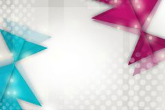 Pink and blue triangle overlap and star, abstract background Royalty Free Stock Photos