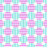 Ball Stripes Seamless Background. Pink and blue vintage background seamless pattern striped geometric balls Royalty Free Stock Photography