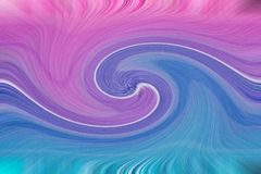 Pink and blue vortex, swirled color background stock images