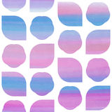 Pink and blue watercolor abstract seamless texture Stock Image