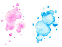 Pink and blue watercolor backgrounds Royalty Free Stock Photography