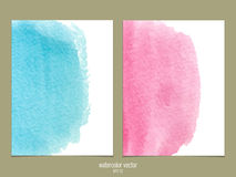 Pink and blue watercolor vector background Royalty Free Stock Photography