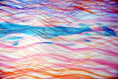 Pink blue watercolor waves like shapes, background Royalty Free Stock Photos