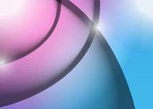 Pink and blue wave lines graphic illustration Royalty Free Stock Photography