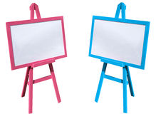 Pink and blue, white board Royalty Free Stock Images