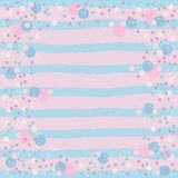 Pink, blue and white bubbles vector illustration