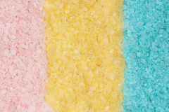Pink blue yellow bath salt background Stock Image
