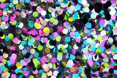Pink, Blue, Yellow, Green Glitter Background. Pink, blue, yellow, and green six-sided glitter background Stock Photography