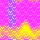 Pink blue yellow mermaid scale  background. Neon iridescent background. Fish scale pattern. Seamless pattern swatch. Holographic gradient. Mermaid skin Royalty Free Stock Photography