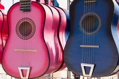 Pink&BlueGuitars Images libres de droits