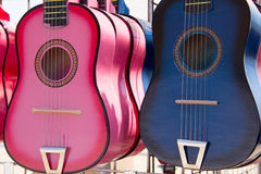 Pink&BlueGuitars Immagini Stock Libere da Diritti