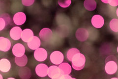 Pink blurred lights Stock Images