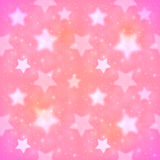 Pink blurred stars vector seamless pattern Stock Image
