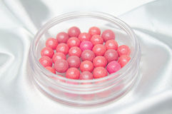 Pink blush in beads Stock Image