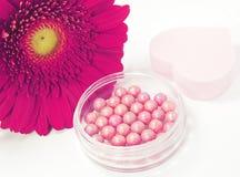 Pink blush in beads Stock Image