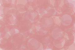 Pink blush round dots circles. Transparent circles overlapping to make a soft abstract background stock illustration