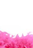 Pink boa border. Glamorous pink feather boa border or background royalty free stock image