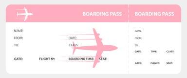 Pink boarding pass Stock Photos