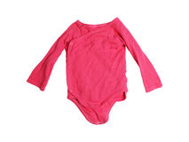 Pink bodysuit for baby girl Royalty Free Stock Image