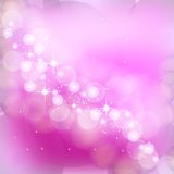 Pink bokeh background. Abstract pink vector illustrations background with bokeh elements Royalty Free Stock Photography