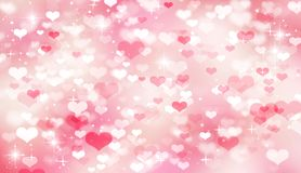 Pink bokeh background,blurred,festive,pink and white hearts,bokeh,Valentine`s day,women`s day ,mother`s day,love,romance,bright stock illustration