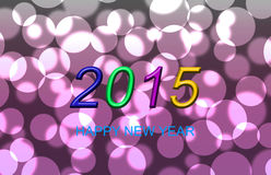 2015 Pink bokeh background. The pink bokeh with year 2015 are design for ideas and others Royalty Free Stock Photo