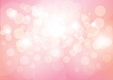 Pink Bokeh Effect Abstract Background Royalty Free Stock Photo