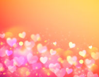 Pink bokeh effect vector shining background Stock Images