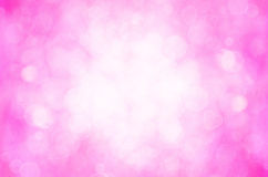 Pink bokeh and heart abstract background. Royalty Free Stock Image