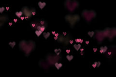 Pink bokeh hearts Stock Photography
