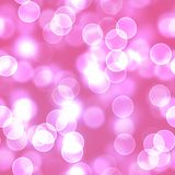 Pink Bokeh Lens Flare Lights Royalty Free Stock Photography