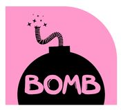 Pink bomb Royalty Free Stock Photos